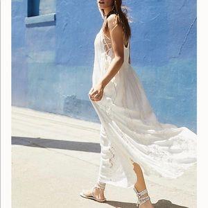 NWOT Free People White Maxi Dress